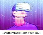 color image of interference on... | Shutterstock .eps vector #1054404407