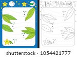 preschool worksheet for... | Shutterstock .eps vector #1054421777