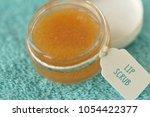 homemade lip scrub made out of... | Shutterstock . vector #1054422377
