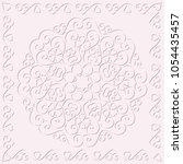 circular monochrome pattern ... | Shutterstock .eps vector #1054435457