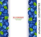ripe blueberry fruit vertical...   Shutterstock .eps vector #1054439783