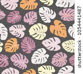 stylish vector tropical pattern ... | Shutterstock .eps vector #1054441487
