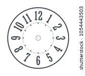modern detailed clock face... | Shutterstock .eps vector #1054443503