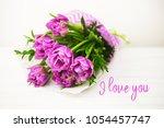 Purple Bouquet Of Tulips Over ...