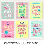 summer hand drawn motivation... | Shutterstock .eps vector #1054463543