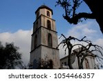 church in giffoni valle piana ... | Shutterstock . vector #1054466357