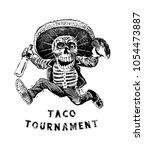 taco tournament eating... | Shutterstock .eps vector #1054473887