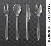 realistic transparent plastic... | Shutterstock .eps vector #1054479563