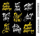 start now. yes you can. be... | Shutterstock .eps vector #1054500803