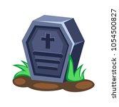 cartoon vector tombstone | Shutterstock .eps vector #1054500827