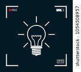 light bulb   new ideas | Shutterstock .eps vector #1054508957