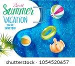 best summer vacation banner...   Shutterstock .eps vector #1054520657