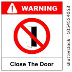 close the door sign. keep this... | Shutterstock .eps vector #1054524053