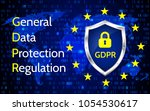 eu general data protection... | Shutterstock .eps vector #1054530617