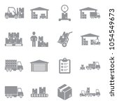 warehouse icons. gray flat... | Shutterstock .eps vector #1054549673