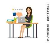 badges of dislike. negative... | Shutterstock .eps vector #1054554587