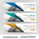 abstract web banner design... | Shutterstock .eps vector #1054579997