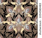 beautiful baroque 3d seamless... | Shutterstock .eps vector #1054580483