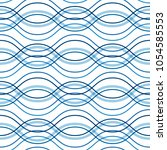 abstract wavy lines seamless... | Shutterstock .eps vector #1054585553
