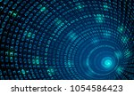 binary code tunnel  vector... | Shutterstock .eps vector #1054586423