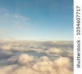 beautiful blue sky background   Shutterstock . vector #1054607717