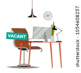 vacancy concept vector. office... | Shutterstock .eps vector #1054608257