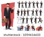 businessman character creation...   Shutterstock .eps vector #1054616633