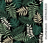 tropical background with palm... | Shutterstock .eps vector #1054618223