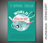 world health day concept. 7... | Shutterstock .eps vector #1054621097