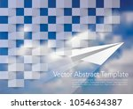 square abstract blue texture ... | Shutterstock .eps vector #1054634387