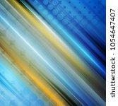 glowing blue orange stripes... | Shutterstock .eps vector #1054647407