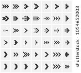set of futuristic arrows.... | Shutterstock .eps vector #1054652003
