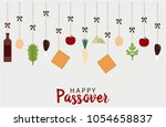 happy passover greeting card or ... | Shutterstock .eps vector #1054658837
