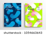 art week modern poster design... | Shutterstock .eps vector #1054663643
