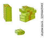 vector flat cash money pile ...   Shutterstock .eps vector #1054665443