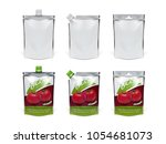 realistic tomato ketchup... | Shutterstock .eps vector #1054681073