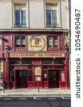 paris  france   june 26  2017 ... | Shutterstock . vector #1054690487