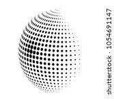 abstract globe dotted sphere ... | Shutterstock .eps vector #1054691147
