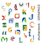 set of full alphabet symbols... | Shutterstock .eps vector #105469613