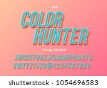 font modern typography colorful ... | Shutterstock .eps vector #1054696583