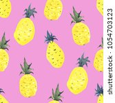 seamless tropical pattern with... | Shutterstock . vector #1054703123