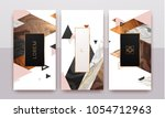 gold  rose gold  black and... | Shutterstock .eps vector #1054712963