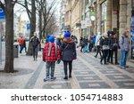 prague  czech republic   march... | Shutterstock . vector #1054714883