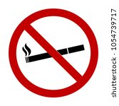 no smoking sign or sticker.... | Shutterstock .eps vector #1054739717