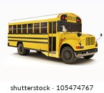 School Bus With White Top...