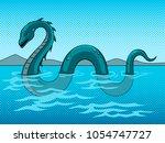 loch ness monster fake... | Shutterstock . vector #1054747727