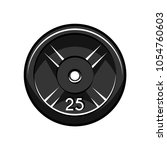 disc weight lifting or... | Shutterstock .eps vector #1054760603