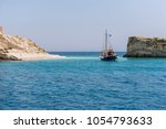 a beautiful place to swim at...   Shutterstock . vector #1054793633