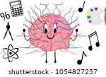 brain showing qualities of its... | Shutterstock .eps vector #1054827257