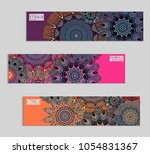 ethnic banners template with... | Shutterstock .eps vector #1054831367